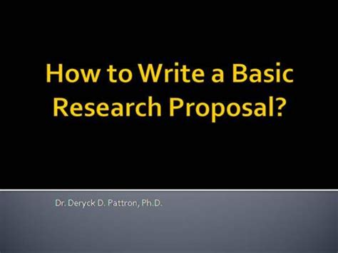 A Basic Proposal Outline - northwesternedu